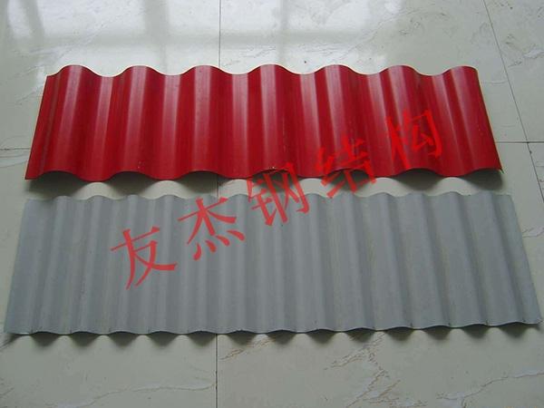 彩色壓型鋼結構板制作